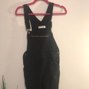 American Apparel Pants - American apparel black overalls size xs
